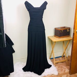 Long black formal gown Nightways 6 Tall